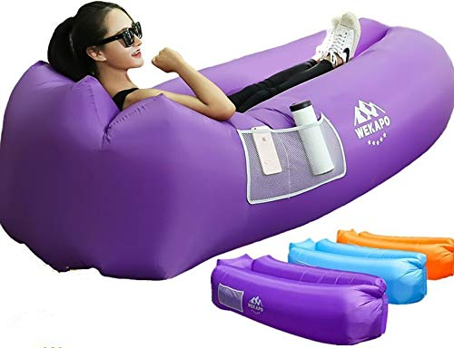 Wekapo Inflatable Lounger Air Sofa Hammock-Portable,Water Proof& Anti-Air Leaking Design-Ideal Couch for Backyard Lakeside Beach Traveling Camping Picnics & Music Festivals…