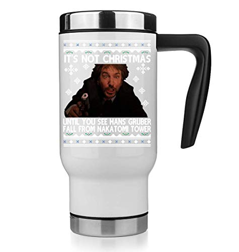 It's Not Christmas Until You See Hans Gruber Fall from Nakatomi Tower Thermo Mug Thermotasse Thermal Tasse Coffee