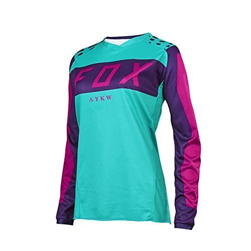 2021Fahrrad-Downhill-Trikot Fox MTB-Trikot Motocross-T-Shirt Fahrrad-Trikot Frau Radfahren Langarmshirts Für-S