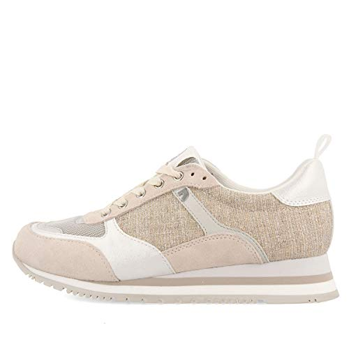 GIOSEPPO Sneakers BÁSICAS Plateadas con CUÑA para Mujer NARBOLIA, 38 EU