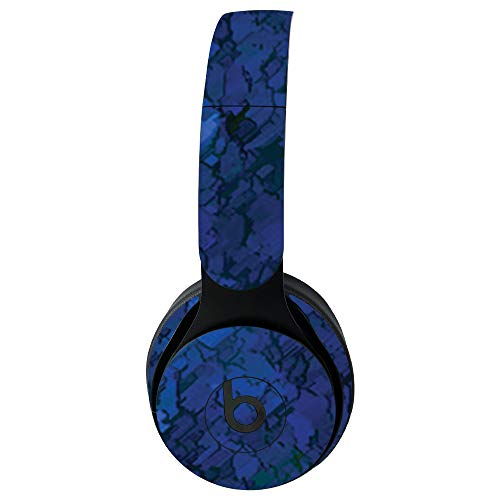 MightySkins Skin for Beats Solo Pro Wireless Headphones - Blue Ice   Protective, Durable, and Unique Vinyl Decal wrap Cover   Easy to Apply, Remove, and Change Styles   Made in The USA