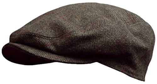Schirmmütze Herringbone fine in anthrazit oder braun by Balke (59, braun)