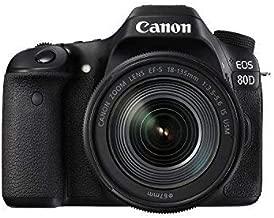Canon EOS 80D Digital SLR Kit EF-S 18-135mm f/3.5-5.6 Image Stabilization USM Lens (Black) (International Model) No Warranty