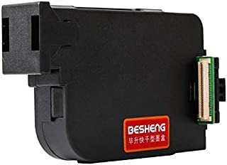 Besheng Original Handheld Ink Cartridge Replacement for Handheld Inkjet Printer (Black,Red,Yellow,Blue,Green,White) (Black)