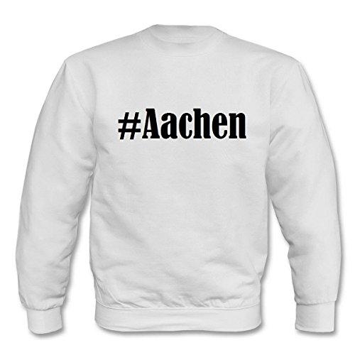 Reifen-Markt Sweatshirt Damen #Aachen Größe XL Farbe Weiss Druck Schwarz