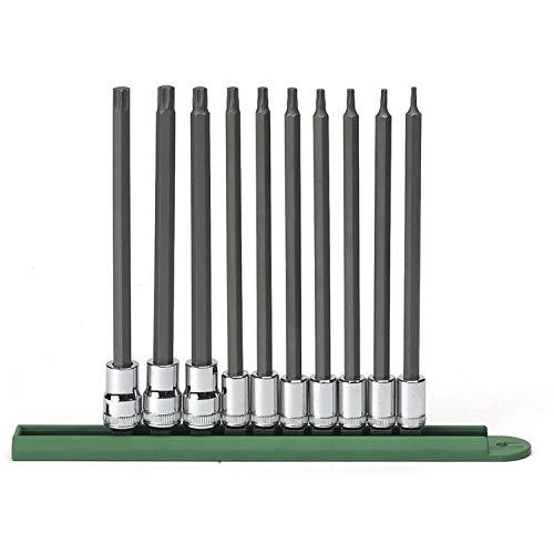 """GEARWRENCH 10 Pc. 1/4"""" & 3/8"""" Drive Long Torx Bit Socket Set - 80588"""