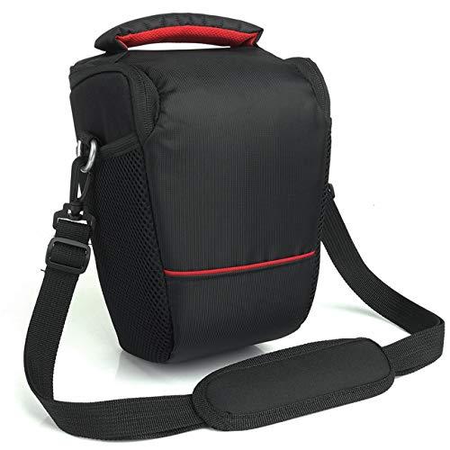 Ba30DEllylelly Funda para cámara DSLR para Canon EOS 4000D M50 M6 200D 1300D 1200D 1500D 77D 800D, Bolsa de Hombro, Mochila Acolchada Suave
