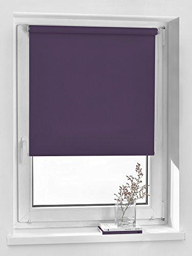 Vidella Rollo blackout verdunkelnd Fenstermontage 75 cm, lila, GGB-15 75