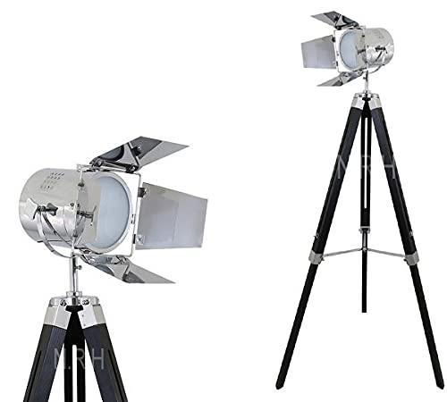 Moderno Industrial Vintage Trípode Lámpara De Pie Cinema e26 Standing Corner Searchlight - Cine Usado Spotlight