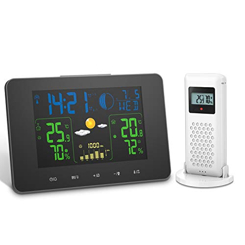Oritronic Wireless Weather Station, Indoor Outdoor Thermometer Digital...