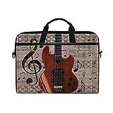 Bolsa Para Portátil Retro Vintage Music Note Guitarra Estuche Para Computadora Bolsa Protectora Maletín De Viaje Con Correa Para El Hombro