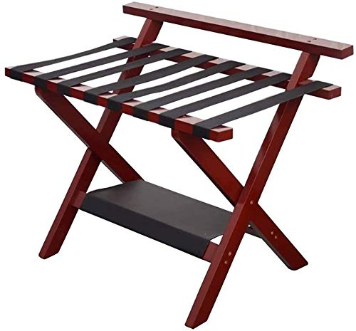 %52 OFF! HOMRanger Room Luggage Holder, Hotel Wooden Folding Luggage Rack, Suitcase Stand – Wine Red 31.519.725.6inch (Size : 1 Pack)
