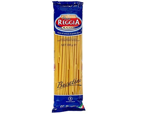 24x Pasta Reggia Bucatini N°15 Durum Wheat Semolina Pasta 100% Italian Pasta Pack of 500g