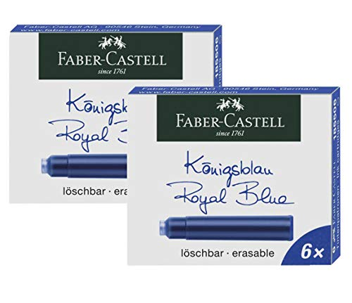 Faber-Castell 185506 - Tintenpatronen Standard (2er Pack (Königsblau), Standard)