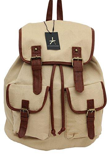 Primark - Bolso mochila para mujer Beige beige