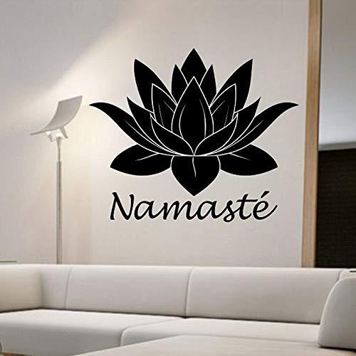 Tianpengyuanshuai Yoga Boeddha Muursticker Lotus Muurstickers Home Decoratie Woonkamer Slaapkamer Art Deco Fotobehang
