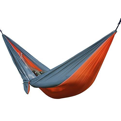 L.J.JZDY Piscine Orange Gris Hamac Portable Fauteuil Suspendu Camping Accrocher Tapis Balançoire Lit Suspendu Sleeping Balançoire Lit d'extérieur