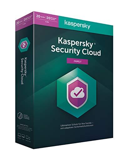 Preisvergleich Produktbild Kaspersky Security Cloud Family Edition / 20 Geräte / 1 Jahr / Aktivierungscode in Standardverpackung