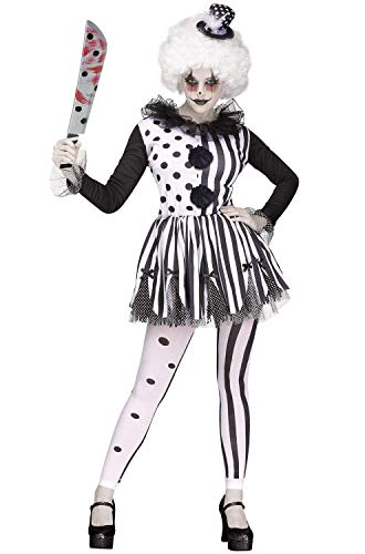 Women's Killer clown fancy dress kostuum klein