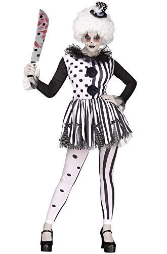 Fun World Women's Killer Clown, Multi, M/L Size 10-14