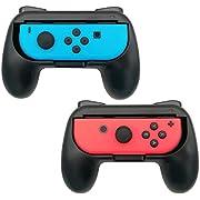 Spiele Controller Joy-con Grip-Kits für Nintendo Switch, Webat Ergonomischer Nintendo-Schalter Grip Handle Handheld Schutzhülle für alle Nintendo Switches (2er-Pack, Schwarz)