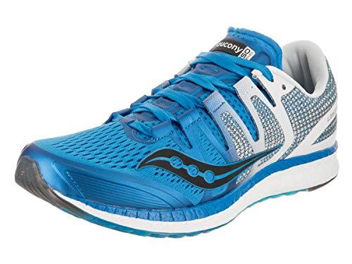 Saucony Men's Liberty ISO Shoes, Blue/White/Black, 12.5