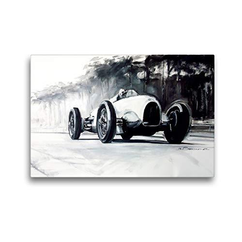 CALVENDO Premium Textil-Leinwand 45 x 30 cm Quer-Format Bernd Rosemeyer, Auto-Union Typ C, 1936, Leinwanddruck von Design, bartsch.