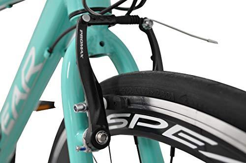 SPEAR(スペア)クロスバイク700cアルミフレームシマノ製21段変速SPCA-7021ディレーラーTourney(ターニー)1年保証付適用身長160㎝以上(グリーン)