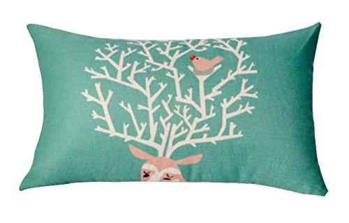 Black Temptation Beautiful Lumbar Pillow Simple Practical Office Rectangle Oreiller, Vert