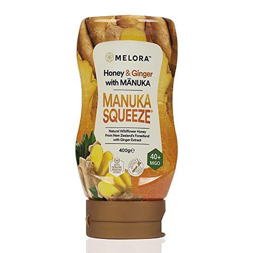 Manuka Squeeze - Manuka Honig in 6 herrlichen Geschmacksrichtungen MGO 40+ | 400g (Ingwer)