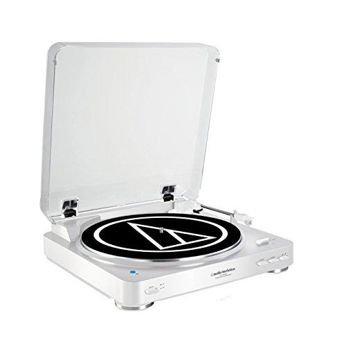 Audio-Technica AT-LP60BTWH - Tocadiscos (3 W, 120 V, 60 Hz, 50 dB, 3.5 mm, RCA), blanco