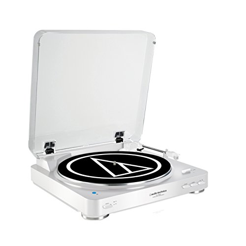 Audio-Technica AT-LP60BTWH - Tocadiscos (3 W, 120 V, 60 Hz, 50 dB, 3.5 mm, RCA), blanco