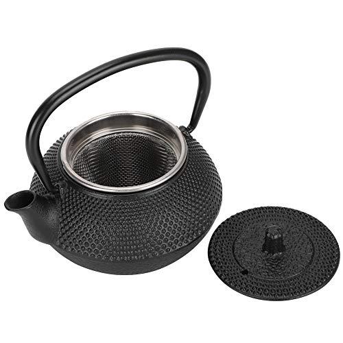 Tetera de estilo japonés de 300 ml Tetera de hierro fundido de 10 onzas con colador Modelado para la oficina en el hogar Tetera o decoración de té de yoga
