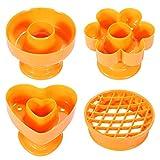DOITOOL Juego de 4 moldes para donuts creativos para hornear, para panadería (amarillo)