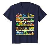 Niños Maquinas Construccion Vehiculos Camion con Grúa Camiseta