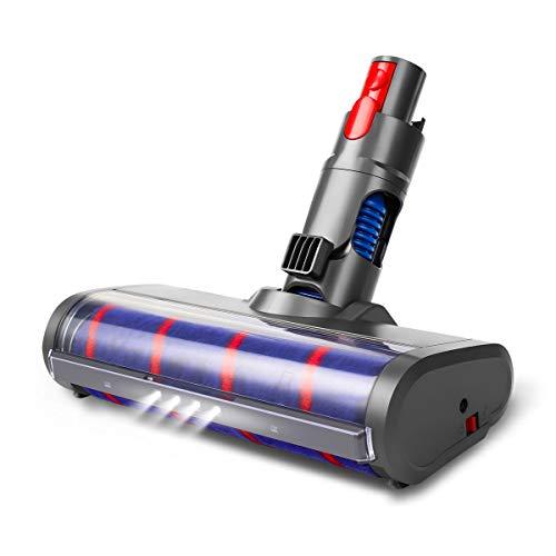 AIEVE weich Reinigungsbürste Bürste Reinigungskopf Zubehör mit LED Licht kompatibel mit Dyson V11 V10 V8 V7 kabelloser Handstaubsauger, für Parkett