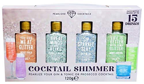 Modern Gourmet Foods - Cocktail Shimmer Geschenkset - Glitzer-Pulver Für Cocktails, Sekt, Prosecco & Weitere Getränke