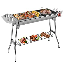 [Excellent Material] The charcoal grill is made of high quality 430 stainless steel and its anti-rust and anti-deformation properties are well known. It is durable with a long service life. At the same time, our stainless steel grates have been teste...