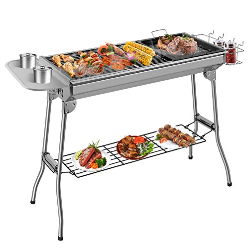 Femor Barbecue à Charbon, Barbecue Pliant Portable, BBQ de...