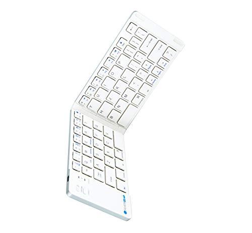 Silvergear Draadloos Opvouwbaar Toetsenbord Bluetooth Wit - QWERTY - Draagbaar en Dun Toetsenbord - Voor Smartphone, Tablet en Laptop/Computer
