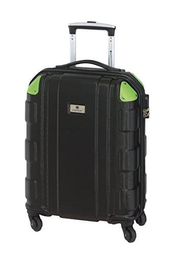 Handgepäck Trolley Boardcase Hartschale schwarz grün 2,5kg Reisekoffer 34 Liter Koffer Klein 55 x 40 x 20 cm