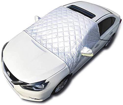 Faltbare Abnehmbare Windschutzscheibe Abdeckung,Frontscheibenabdeckung Auto Eisschutzfolie,Sonnenschutz Scheibenabdeckung,148x240cm,universal