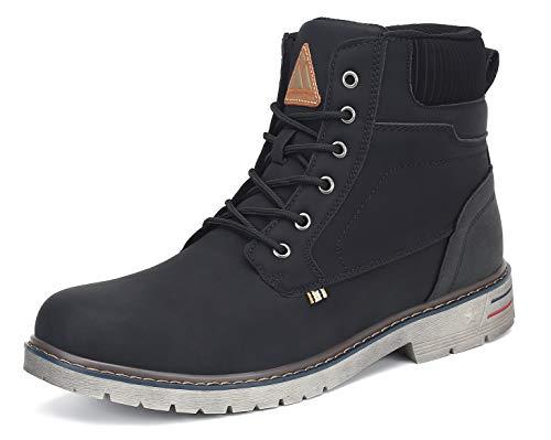 Mishansha Clásicas Botas Hombre Moto Impermeable Trekking Zapatos Negro 41