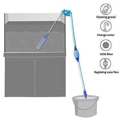 KASAN Gravel Vacuum for Aquarium - Aquarium Siphon - Fish Tank Gravel Cleaner can Change Water Quickly and Gravel Cleaning