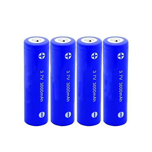 yfkjh 3.7v 3000mah 18650 batería de ion de litio, baterías recargables con señalado para baterías de linterna 4PCS