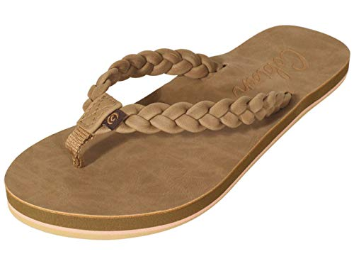 Cobian Women's Braided Pacifica Tan, 9