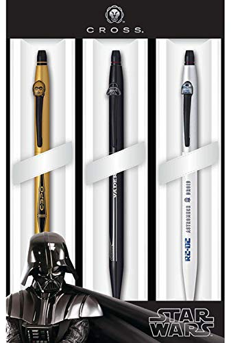 Cross 9857M3 - Pack de 3 bolígrafos, diseño Star Wars
