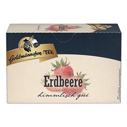 Goldmännchen Tee Erdbeere, Früchtetee, 20 einzeln versiegelte Teebeutel