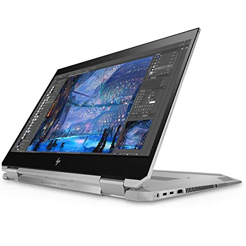 HP ZBook Studio x360 G5 Convertible Workstation, Intel Core i7-9850H, 16GB RAM, 512GB SSD, 15.6' 1920x1080 FHD, 4GB NVIDIA Quadro P2000, HP 3 YR WTY + EuroPC Warranty Assist, (Renewed)