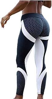 سروال يوغا للنساء ملابس لتمرين اليوغا ضيقة سروال ضيق للنادي الرياضي سروال رياضي بنطال للياقة البدنية والتمرين - مقاس: M